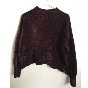 Chenille Crop Sweater Size S